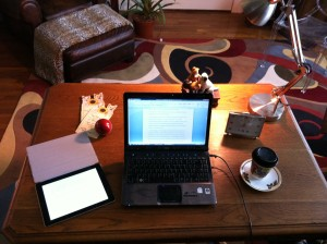 Writing desk at the Haunted Office