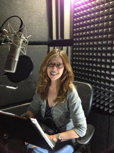 Susannah in the audio booth at Blackstone.
